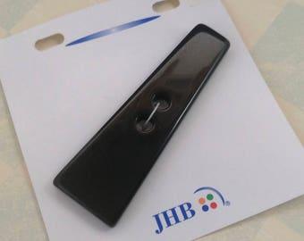 "Asymmetrical Oversize Black Carded JHB Button 3 1/4"" For Knit Garment"