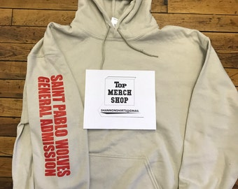 Saint Pablo Tour Kanye Los Angeles THE FORUM General Admission Limited Wolves Hoodie