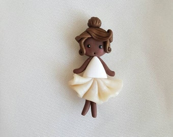 Doll ballerina tutu Pearly necklace