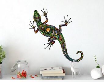 Salamander Bohemian boho Indian mandala wall tattoo wall jewelry wall decals wall sticker wall picture