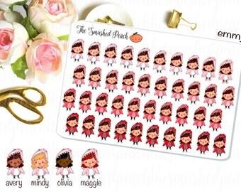 Shark Period Girl - Hand Drawn Planner Sticker Sheet