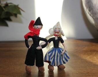 Pair of Dutch Miniature Dolls