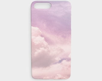 Pastel Pink Sky Phone Case, Cloud Print Phone Case, Light Pink Clouds Protective Phone Case for the Apple iPhone and Samsung Galaxy Devices