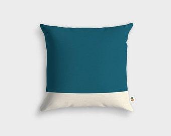 Basic MALLARD WHITE cushion - Made in France - 45 x 45 cm