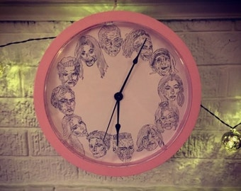 Ladies of the Hours Wall Clock