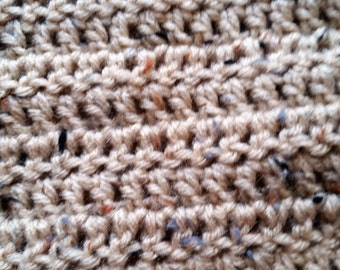 Neutral Colored Crochet Scarf