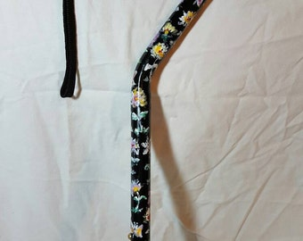 Hand-Painted Floral Cane