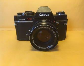 SLR Camera konica AutoFlex TC w/ F 1.7 50mm Hexanon Lens