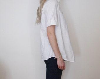 Vintage White Short Sleeve Blouse