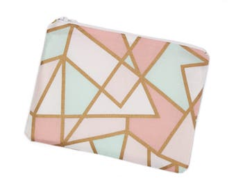 Peachy Pink Zipper Bag