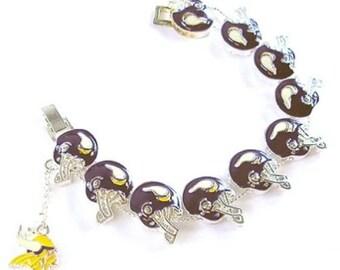 NFL - Minnesota Vikings Silver Charm Bracelet