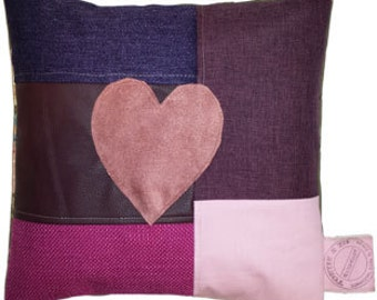 Pillow, Pillow Heart 3 Patchwork