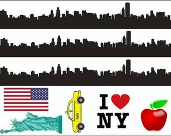 New york themed icing sheet