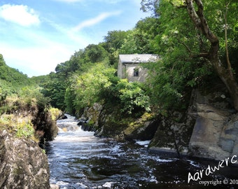 Cenarth Falls West Wales Photography Print - unframed