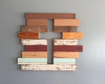 Reclaimed barn wood cross