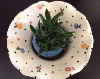 Ceramic Self-Watering African Violet Pot