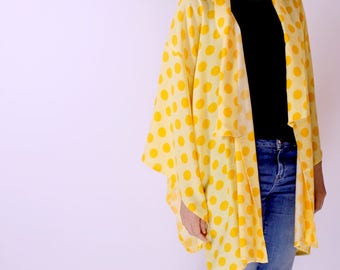 Cotton kimono top