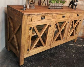 Handcrafted Farmhouse Buffet Cabinet / Media Console