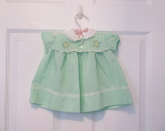 Mint Green Infant Baby Girl's Dress
