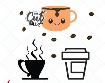 coffee svg, coffee dxf, food svg, jpg, png, digital stamps, cutting files, clip art, printable, Silhouette, Cricut, cup svg, starbucks svg,