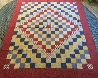 Handmade Beautiful quilt.  Just in time for the fourth