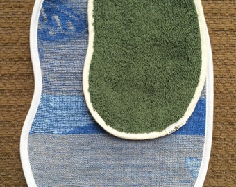 Greens and Blues Bean Cloth Set