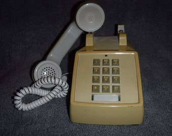 Vintage push button telephone-works