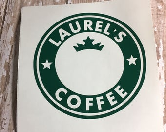 starbucks,custom,decal,name,coffe,tea,vodka,wine,