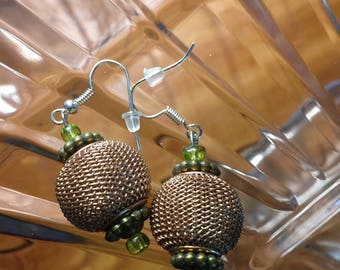Wire Mesh Dangle Earrings