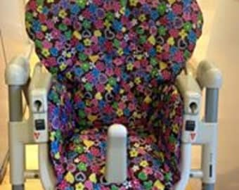 Groovy Flowers High Chair Cover