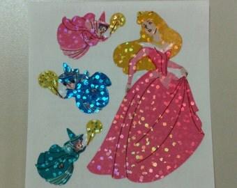 Sandylion Stickers Glittery Princess Aurora, Sleeping Beauty  (1 mod)