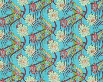 Flock Together - Chatting Birds by Kathy Doughty/ Free Spirit Fabrics - Sold by the Yard