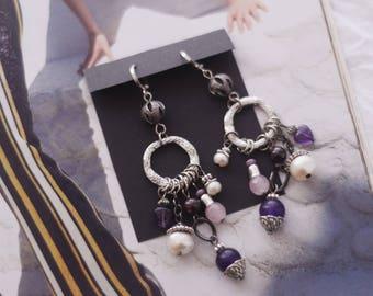 Boho earrings, gypsy earrings, statement earrings, hippie earrings, festival earrings, colorful earrings, unique earrings, bohemian earrings
