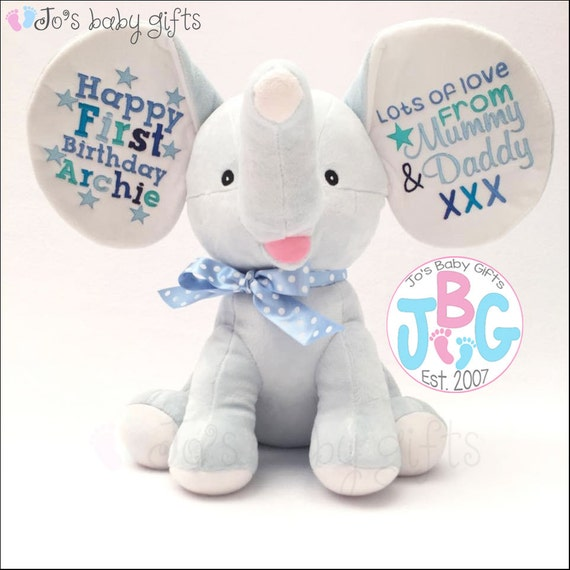 Mister Buddy Bear White Bear Personalized Stuffed Animal Baby Gift Birth  Announcment Animal. Birth AnnouncementsCustom EmbroideryStuffed ...