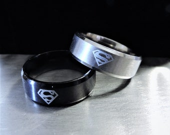 Superman Stainless Steel Ring