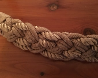 Cool 80's braided belt wih back clasp