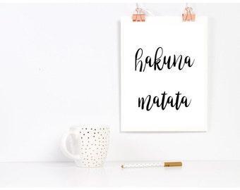 Hakuna Matata Printable
