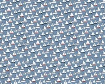Blue Sailboat By the Sea Riley Blake Fabric by the Yard