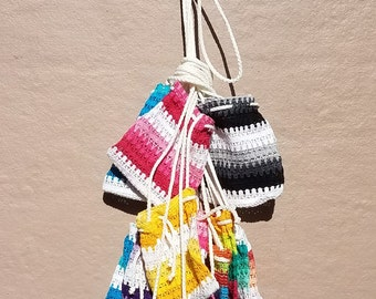 Woven Shoulder Bag - Woven Mexican Bag – Small Shoulder Bag – Oaxaca Bag