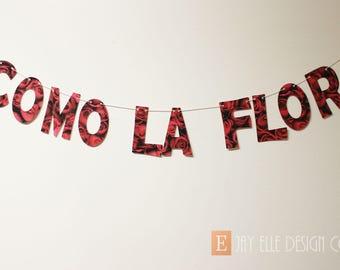 Como La Flor, Birthday Banner, Spanish Birthday, Selena Birthday, Anything for Selenas, Selena Baby, Selena Quintanilla, Bidi Bidi Bom Bom