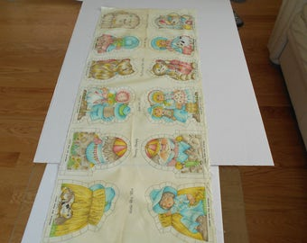 Vintage VIP Cranston Mother Goose Favorites Fabric Panel