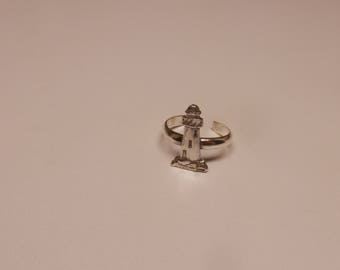 Toe Ring ( Lighthouse  ) Sterling Silver