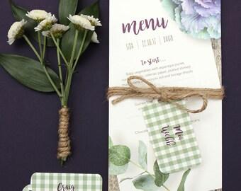 Wedding breakfast menu - Isabella design and beautifully printed
