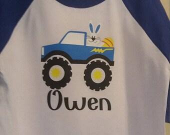 Easter truck boy shirt