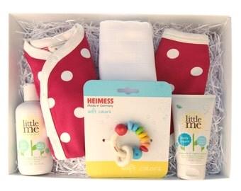 Red Dotty Organic Newborn Baby Gift Box