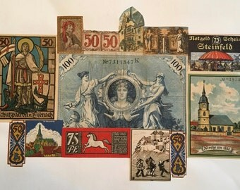 Money Collage: 1920s, German Suitable for Framing