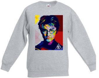 Harry Potter sweatshirt. Harry Potter portrait Deathly Hallows sweatshirt