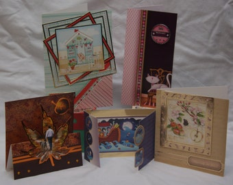 Handmade cards. Various sizes and uses. blank inside for own sentiments.