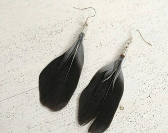 Feather earrings - feather earrings