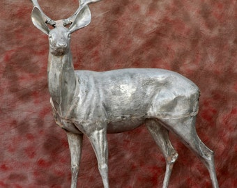 Aluminum Deer Buck, life size